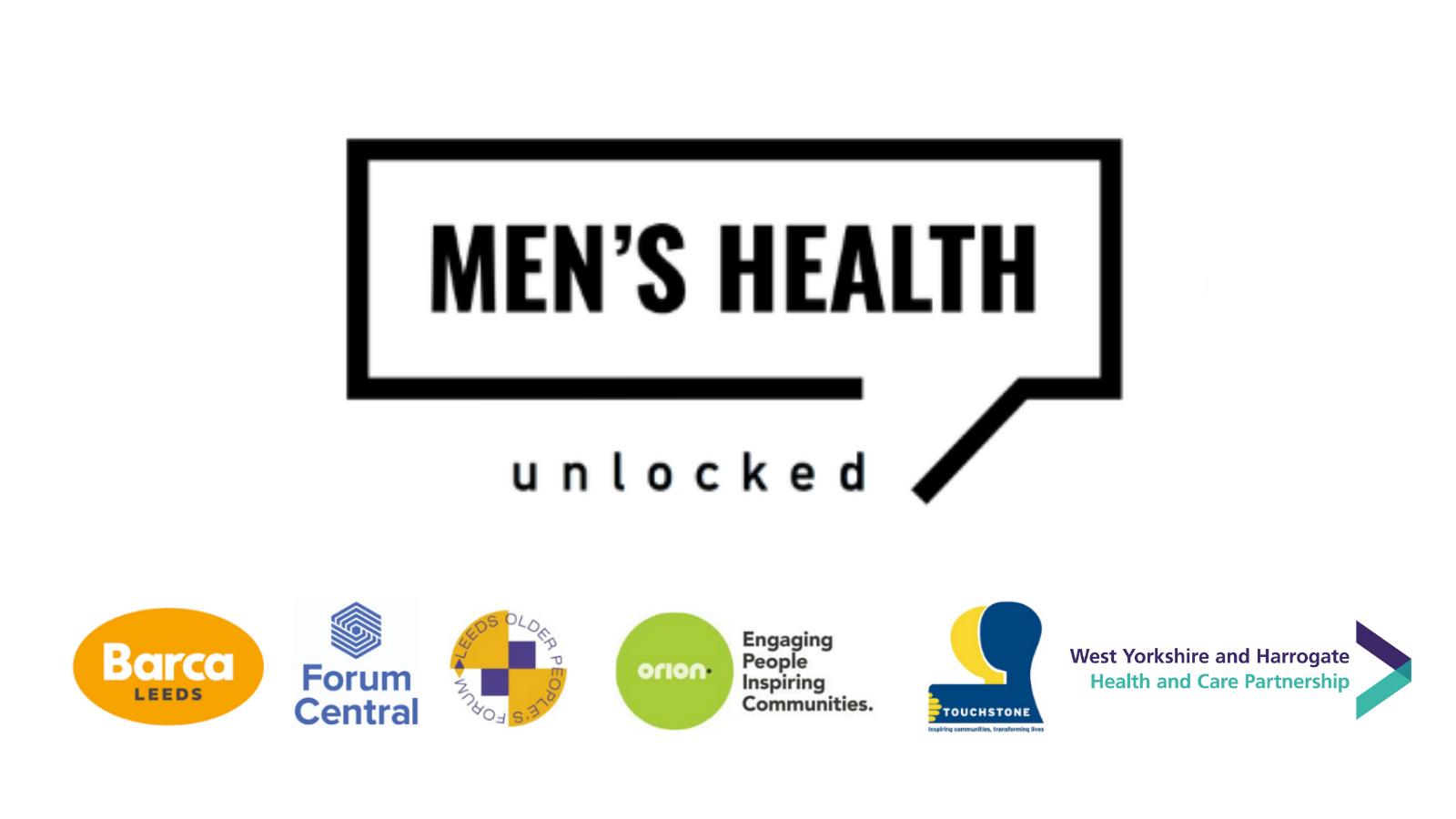 Logos of the Men's Health Unlocked partner organisations